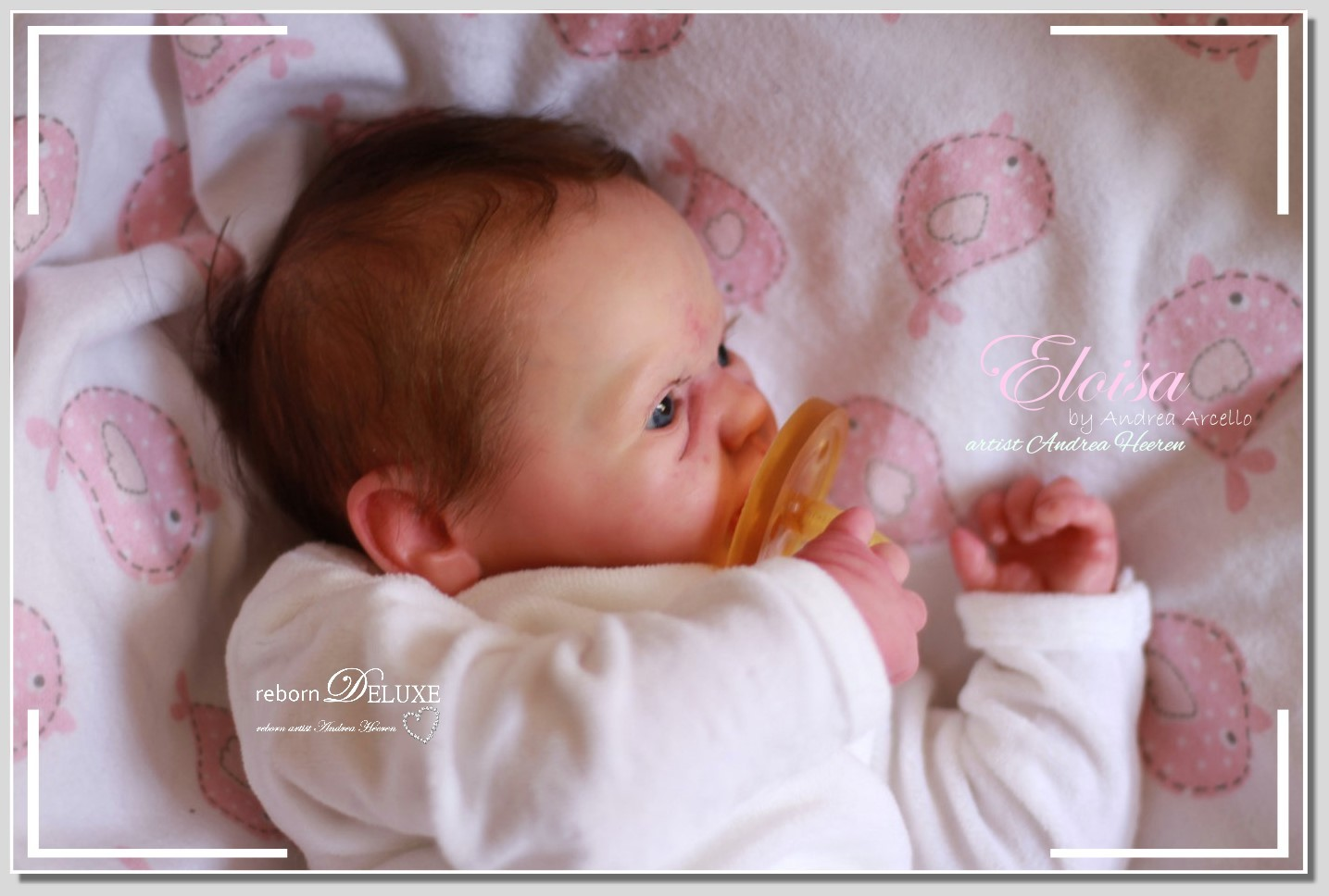 Newborn Baby Eloisa Reborn Doll By Andrea Arcello Puppe